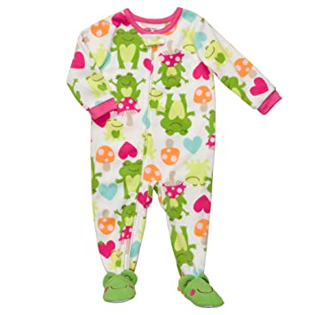 Image Unavailable. Image not available for. Color  Carter s Fleece Frog Footed  Sleeper ... ad3aa932c