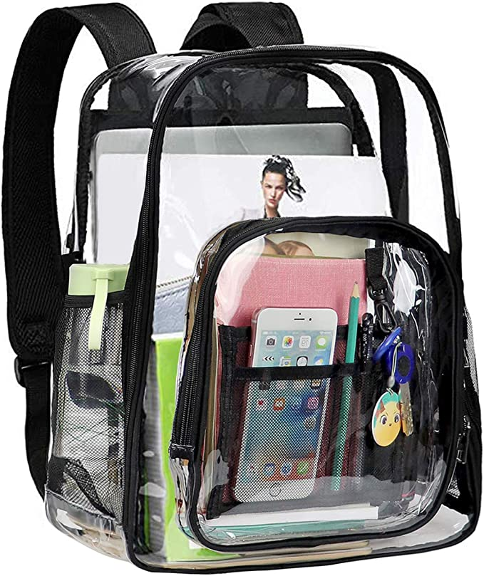Mochila Escolar Transparente Mochila Informal Impermeable Mochila De Playa Mochila para Viajes De Trabajo Escolar XQK Mochila Transparente De PVC