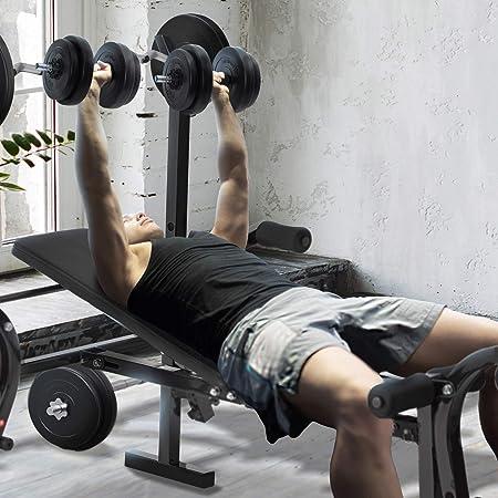 ArtSport Multifunktion Hantelbank Set ProfiGym 1000 /& 3in1 Hantelset mit 60 kg Gewichten Trainingsbank klappbar Kurzhantel Langhantel Curlhantel Kraftstation