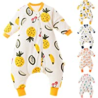 Buyinsoon Baby Sleeping Bag with Legs, Unisex Winter Toddler Wearable Blanket Sleeping Bag with Removable Sleeves