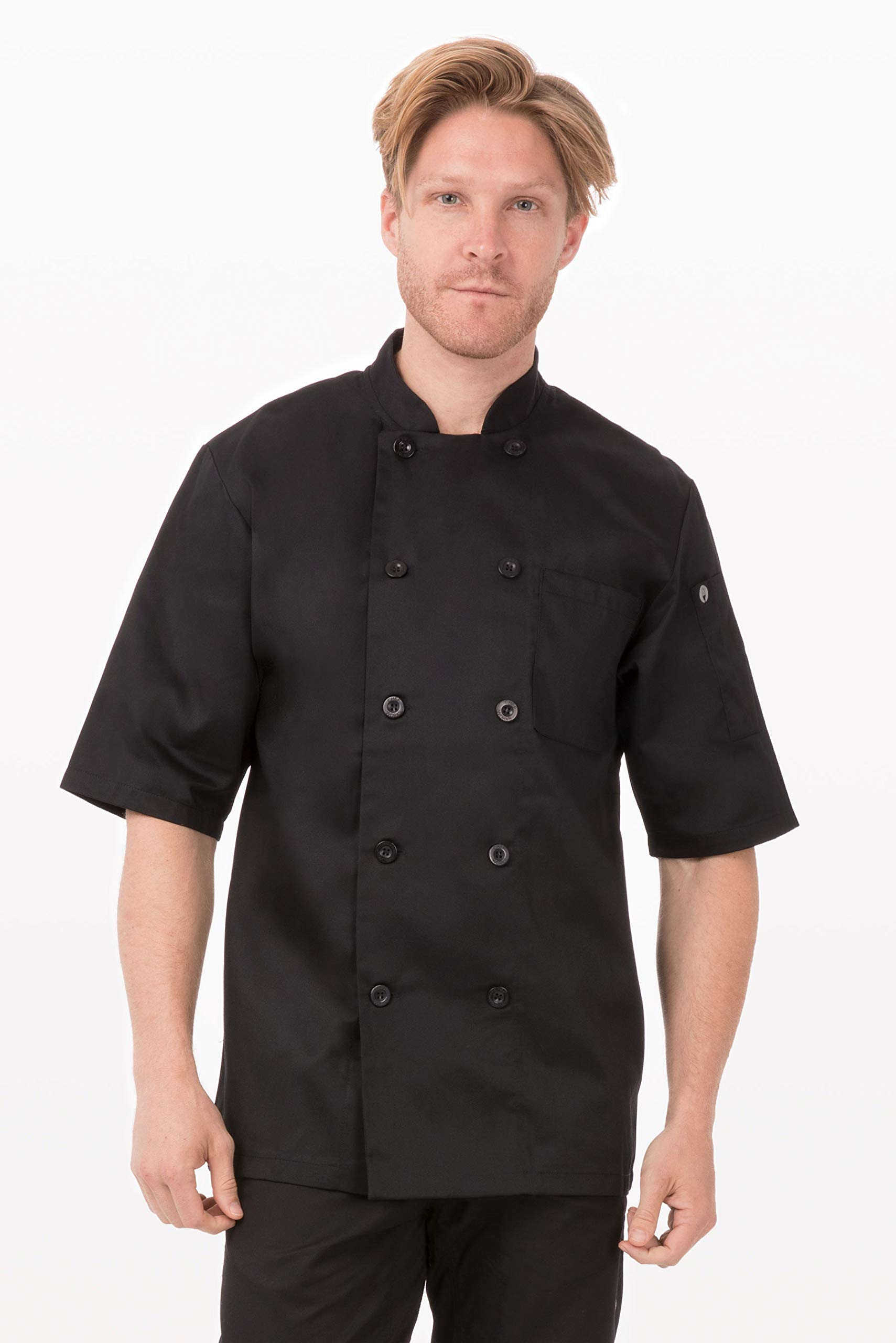 Chef Works Unisex Chambery Chef Coat, Black 3X-Large by Chef Works