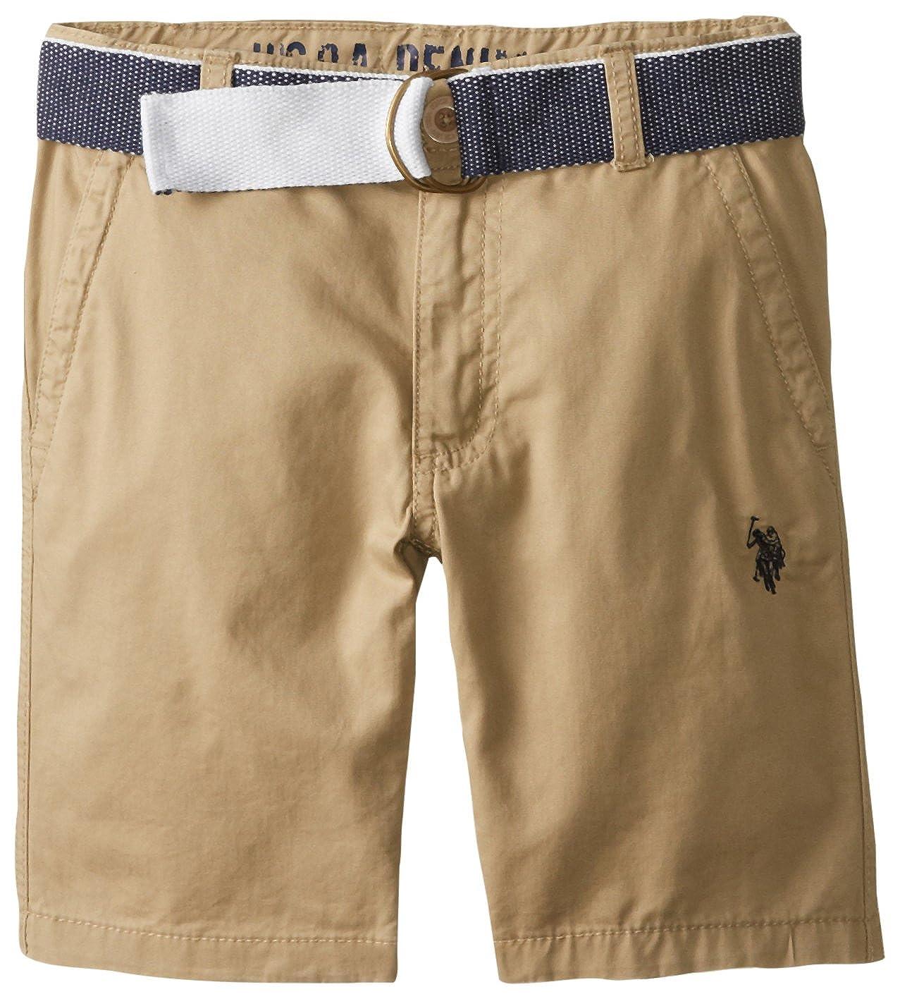 U.S. Polo Assn. Boys' Twill Short with Belt