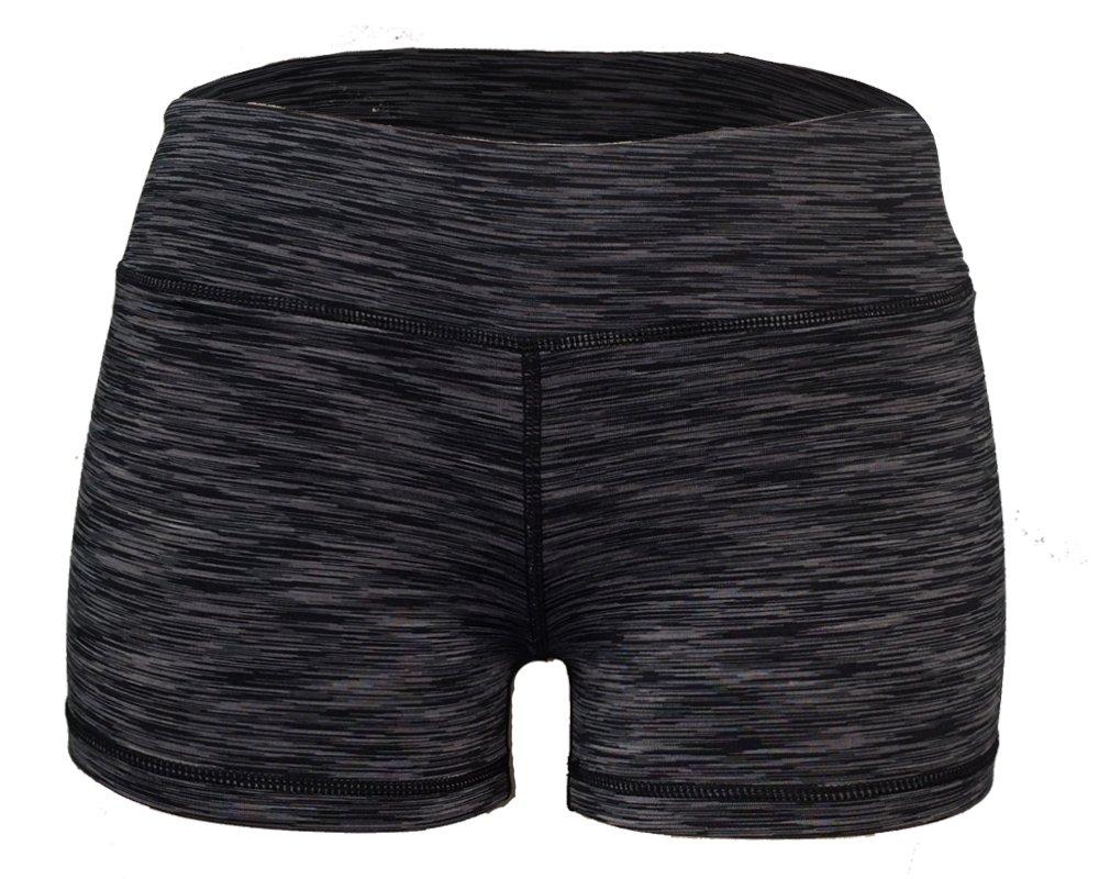 WOD Shorts for Women (Black Space Dye, S/6)