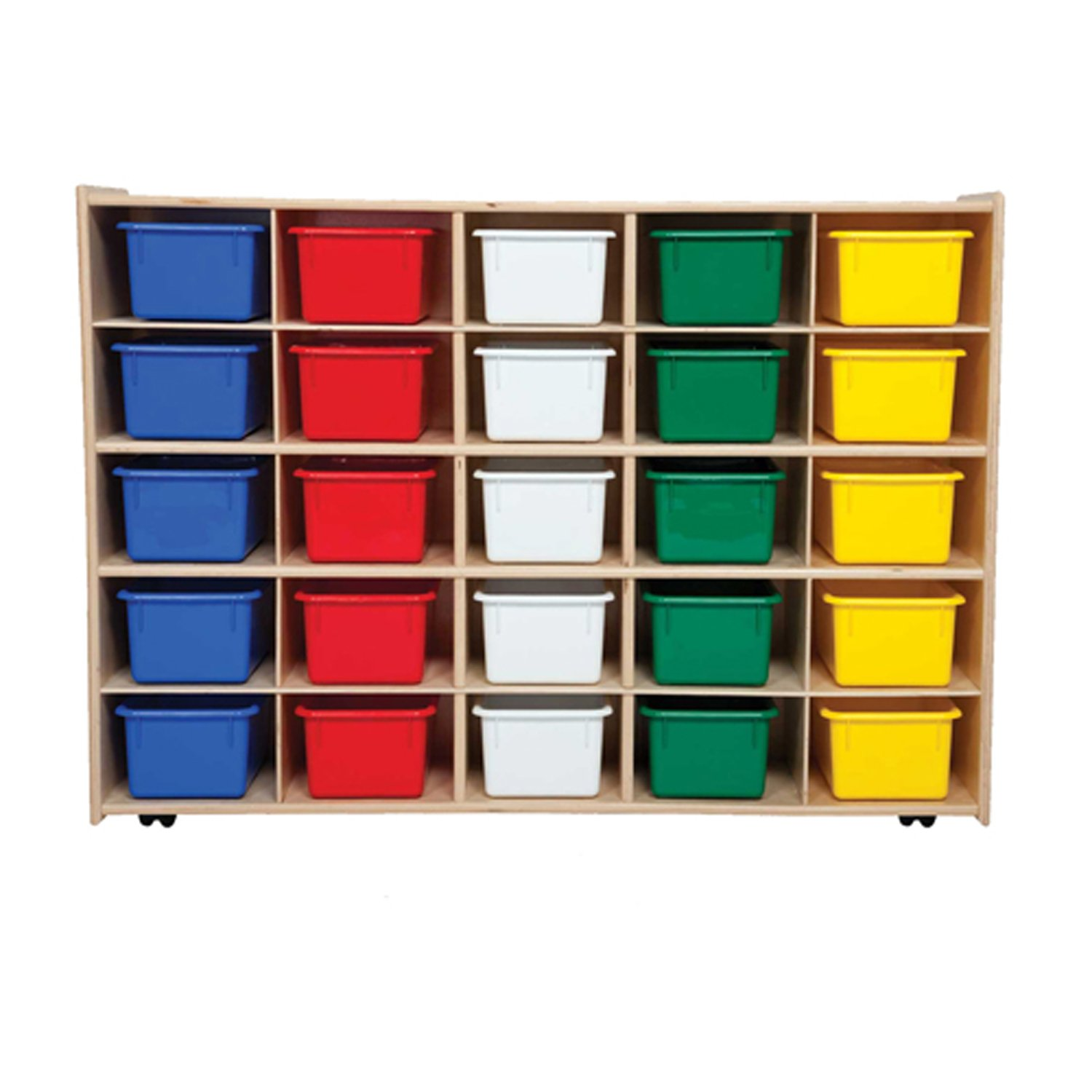 Contender C16003F-C5 25 Tray Storage w/Assorted Trays, Assembled w/Casters