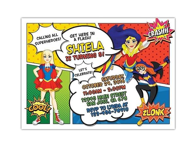 amazon com dc superhero girls birthday party invitations any age