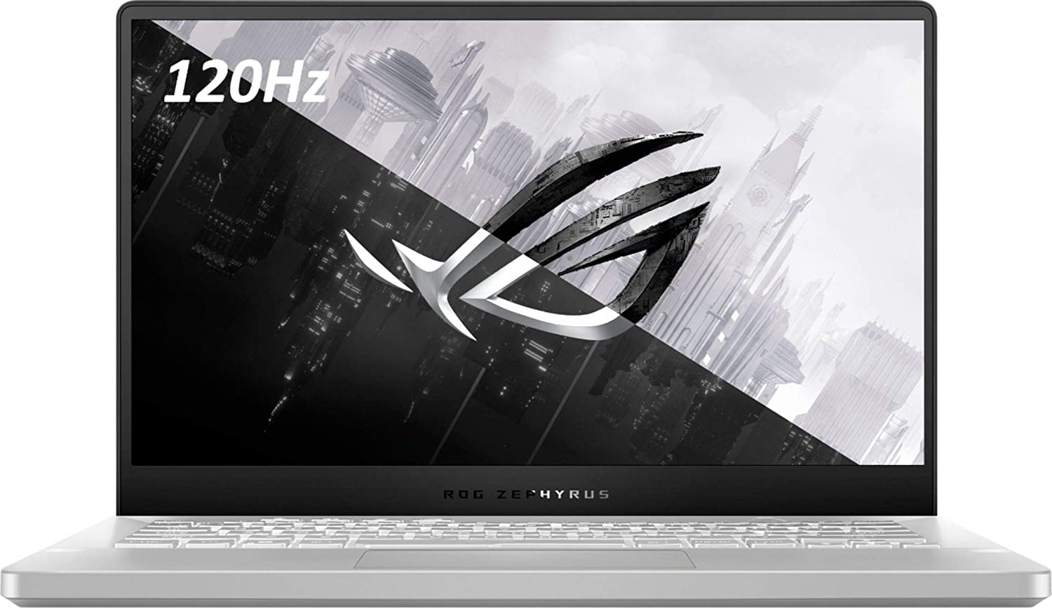 "ASUS ROG Zephyrus G14 14"" VR Ready 120Hz FHD Gaming Laptop,8Core AMD Ryzen 9 4900HS(Beat i7-10750H),16GB RAM,1TB PCIe SSD,Backlight,Wi-Fi 6,USB C,NVIDIA GeForce RTX2060 Max-Q,Win10 (Moonlight White)"