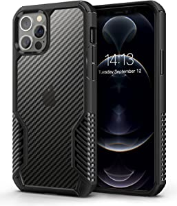 MOBOSI Vanguard Armor Compatible with iPhone 12 Pro Max Case,Rugged Cell Phone Cases,Heavy Duty Military Grade Shockproof Drop Protection Cover 6.7 inch 2020 (Black)