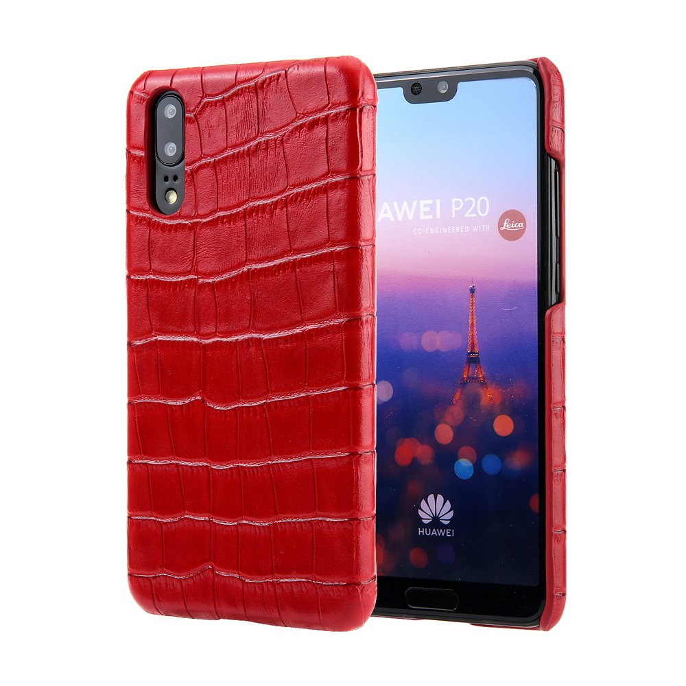 Scheam Huawei P20 Case, [Portable Wallet ] [ Slim Fit ] Heavy Duty Protective Shell Flip Cover Wallet Case for Huawei P20 - Red
