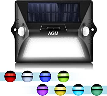 AGM Upgrade Solar Powered Color LED with Dualheaded Solar Light