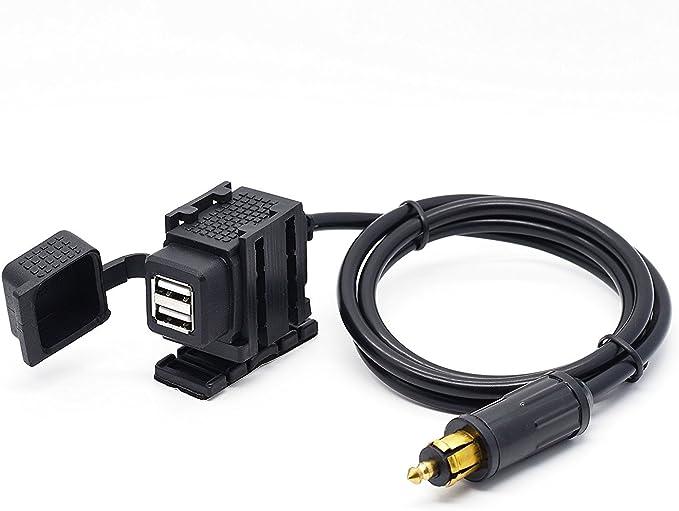 New Waterproof Dual USB Fast Charger 4.8 Amp Hella BMW Powerlet Plug Socket 12V