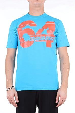 DSQUARED2 64 impresión Camiseta Azul Claro: Amazon.es: Ropa y ...