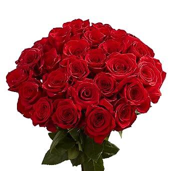 Amazon Com Globalrose 100 Red Roses Lovely Fresh Flowers Next