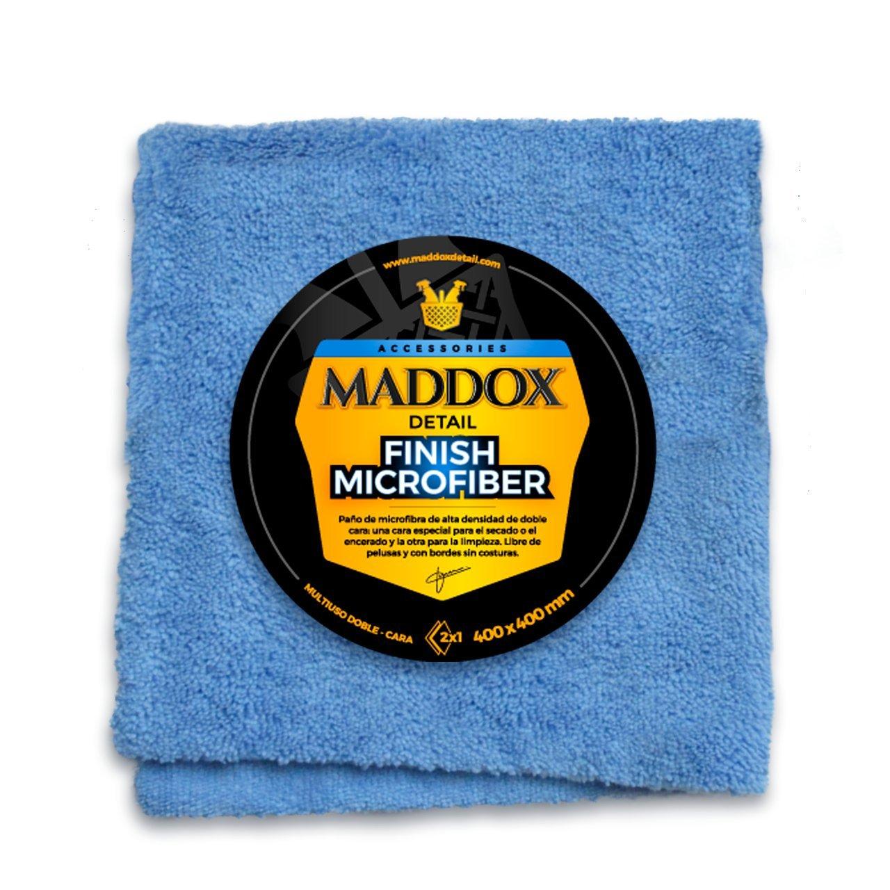Maddox Detail 70202 Finish Microfiber - Paño de 40 X 40 Cm. Robusto y Sin Pelusa. de Dos Lados Con Bordes Libres de Cos, Azul: Amazon.es: Coche y moto