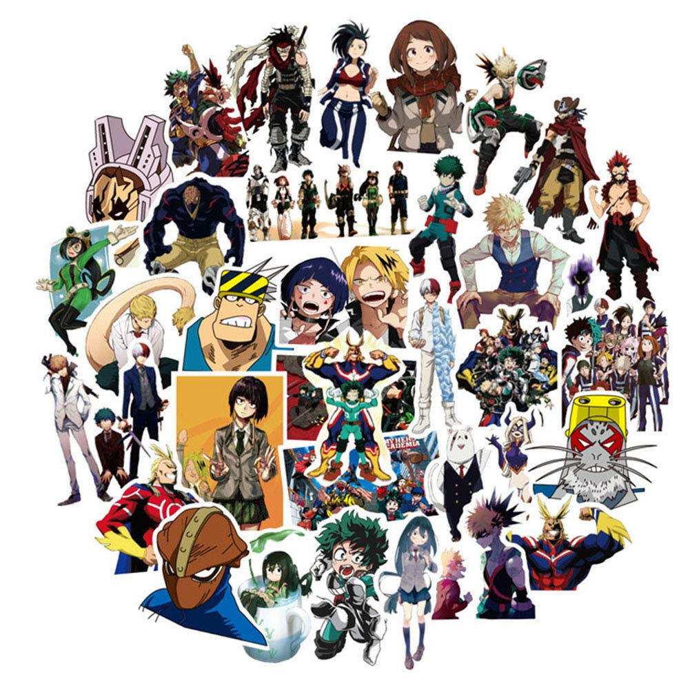 Stickers Calcos 50 un. My Hero Academia Anime (7GGNFFXD)