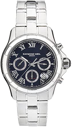 raymond weil men s 41mm steel bracelet case automatic black dial raymond weil men s 41mm steel bracelet case automatic black dial chronograph watch 7260 st