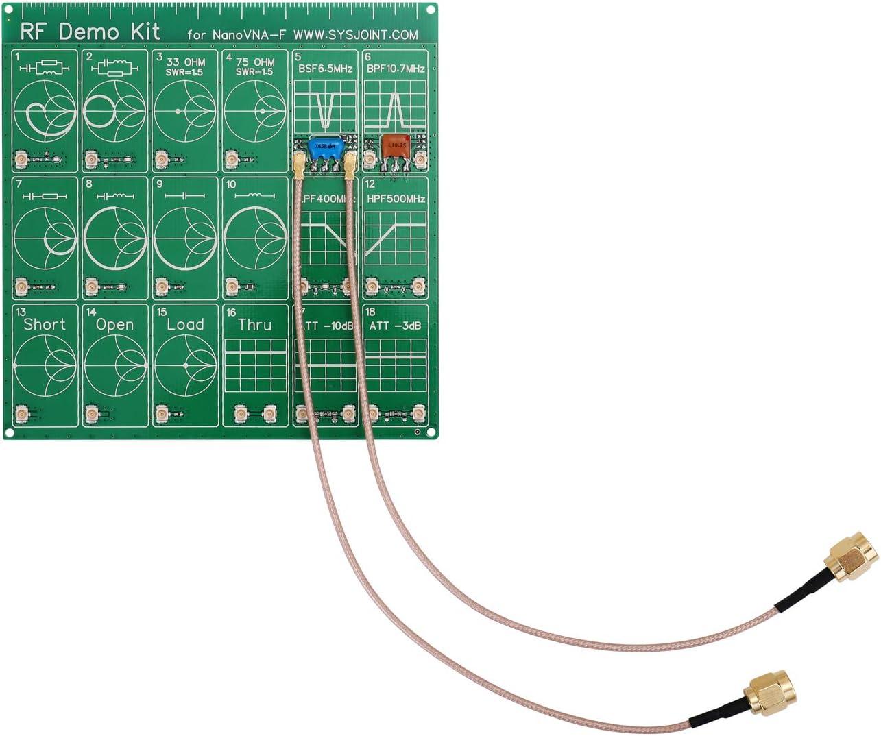 Atenuador RF para analizador de red vectorial NanoVNA-F,kit de demostración de RF PCB Atenuador de filtro