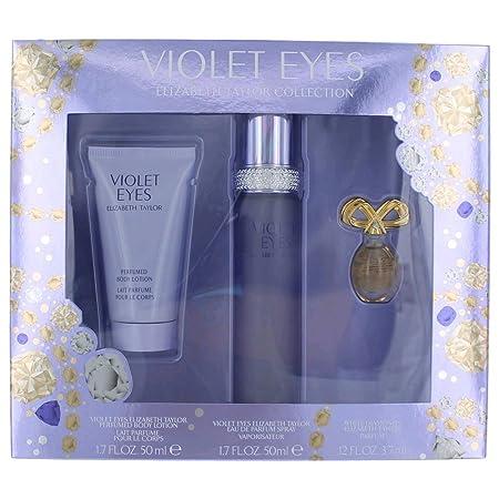 Women s Violet Eyes by Elizabeth Taylor Fragrance Gift Set – 3 pc
