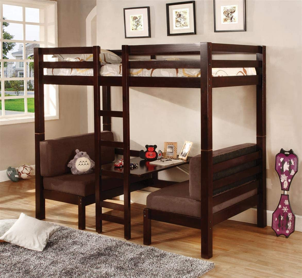 Coaster Fine Furniture 460273 Convertible Loft Bed White Finish Twin Beds Frames Bases Beds Urbytus Com