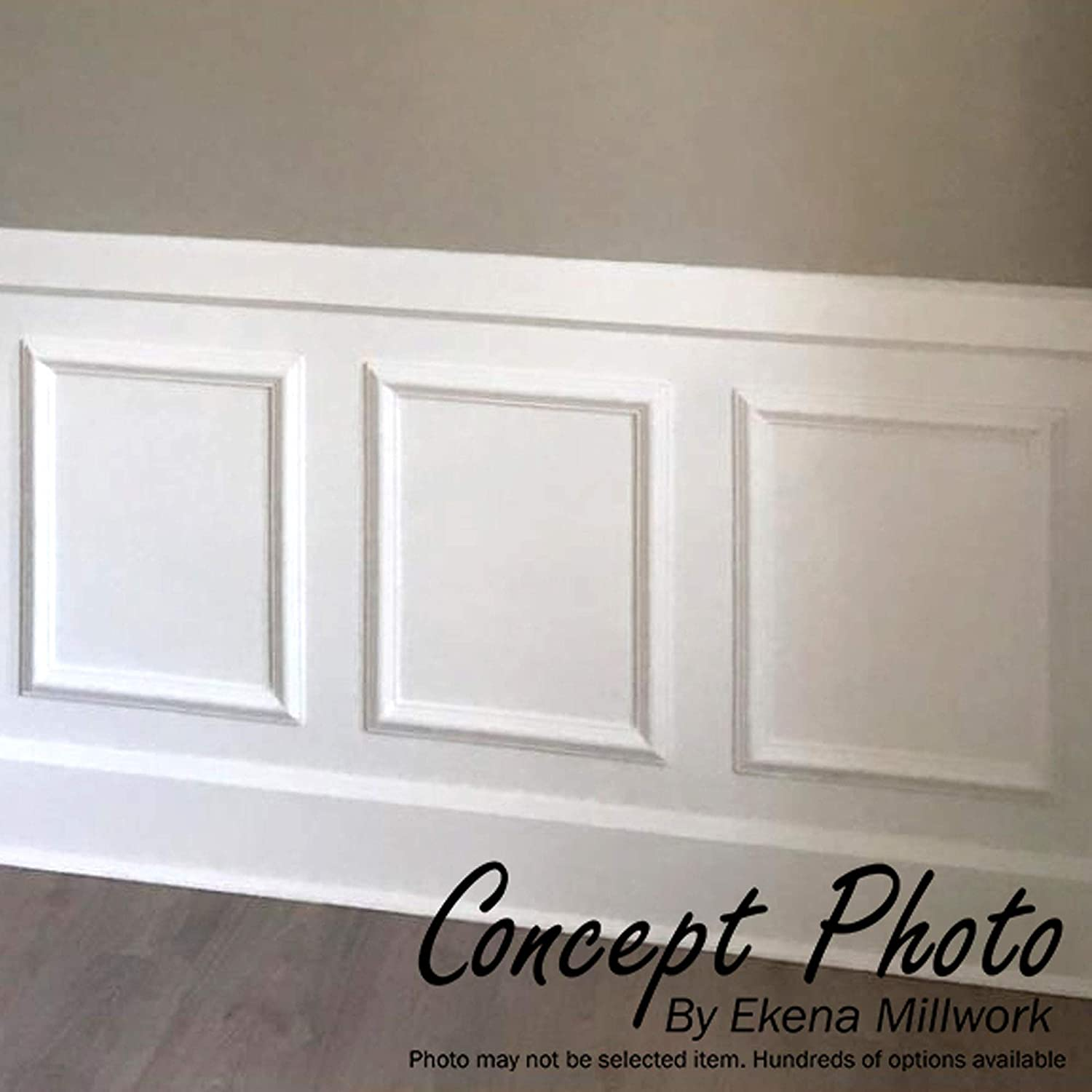 Factory Primed White 4 Piece x x 4-Pack Ekena Millwork PNL16X20AS-01-CASE-4 16W x 20H x 1//2P Ashford Molded Classic Wainscot Wall Panel