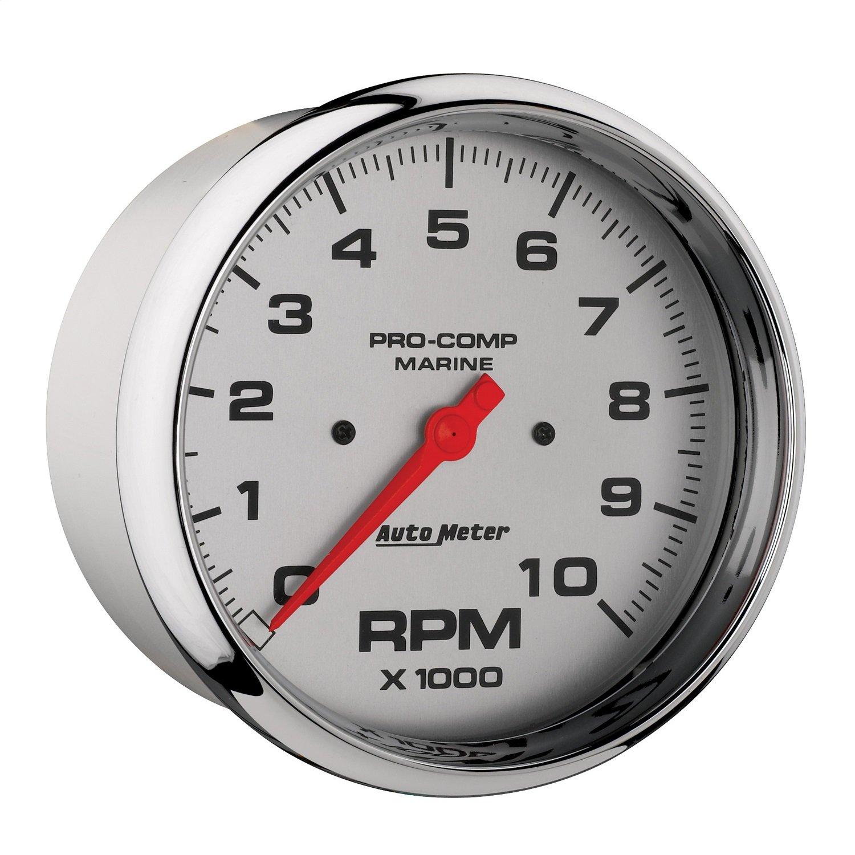 Marine Chrome Auto Meter AutoMeter 200801-35 Ultra-Lite Gauge 5 10K RPM Tachometer