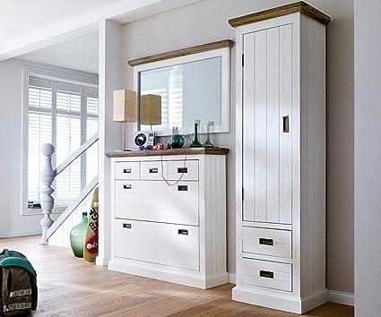 Armario golkar Blanco 60 x 200 cm Acacia 1 puerta 2 cajones ...