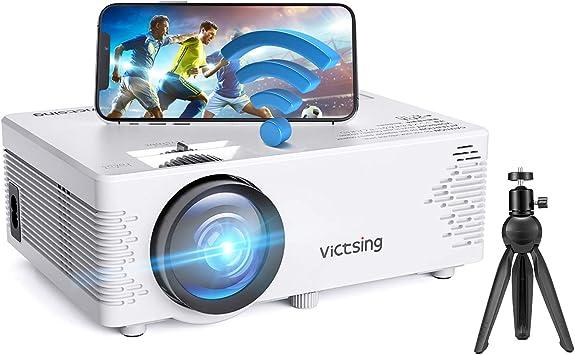 Proyector WiFi, VicTsing Mini proyector portátil , Compatible con Bluetooth y 1080P Full HD, Compatible con proyección