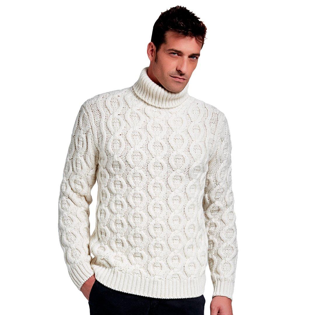 TALLA M. Brunella Gori – Merino/Cashmere suéter de cuello alto AZTEC