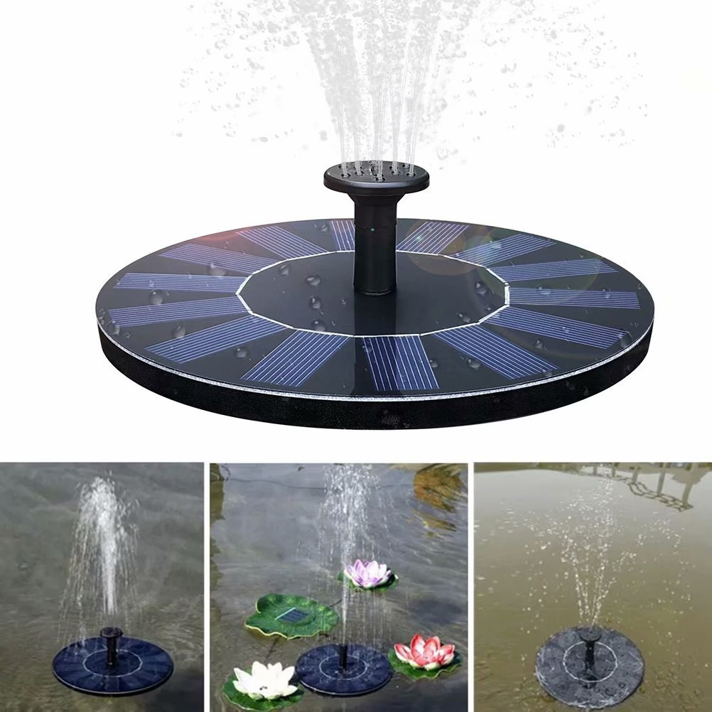 XHSP Solar Fountain Pump 1.4W Submersible Solar Outdoor Water Fountain Panel Kit for Bird Bath Small Pond Fish Tank Garden and Lawn by XHSP