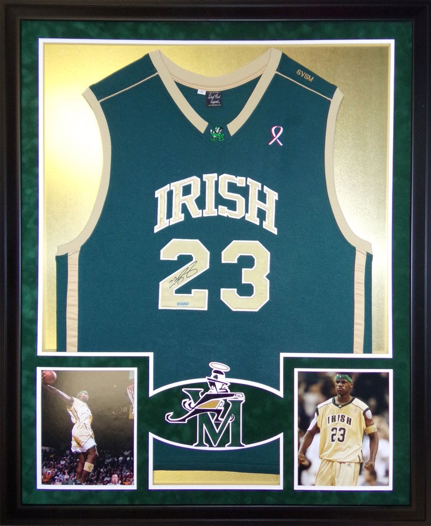 best website 7f90a dbae0 LeBron James St. Vincent St. Marys Autograph Signed Custom ...