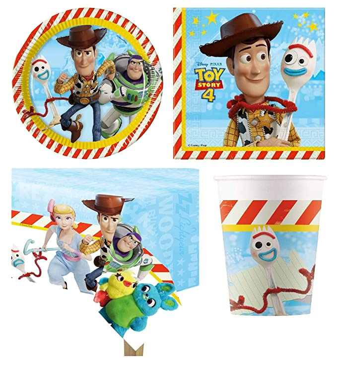 Toy Story 4 Party Pack para 8 Personas: Amazon.es: Juguetes ...