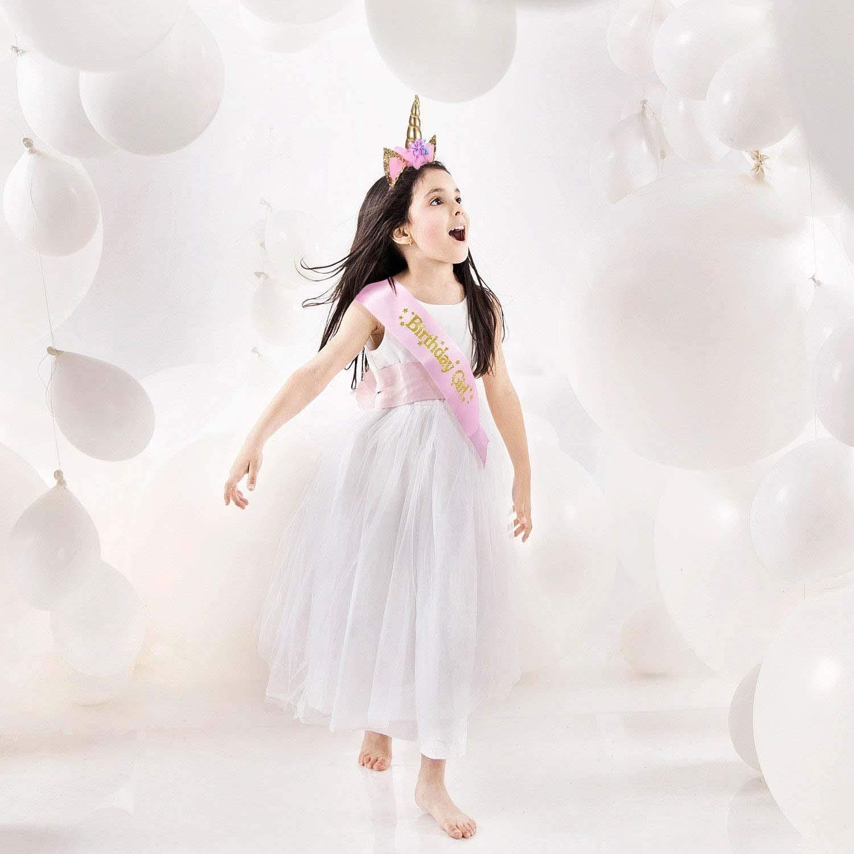 YiRAN Set Servizio da 116 Pezzi a Tema Unicorno Rosa Include Banner Piatti Bicchieri Tovaglioli e Tovaglie Set di Posate con Fascia Unicorno /& Fascia per Ragazza di Compleanno Servizio per 16