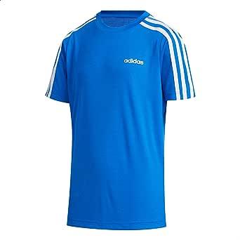 Adidas Camiseta 3-Stripes Contrast Striped Shoulder Chest Logo Sports T-Shirt for Kids