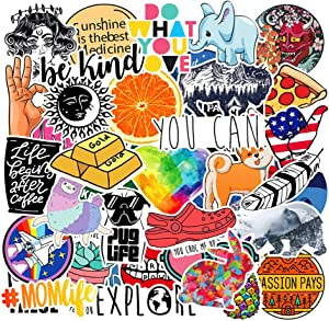 Stickers for Water Bottles Hydro Flask 40-Pack Large Vinyl Trendy Stickers Cool Punk Stickers for Laptop, Phone Case Wall Decoration VSCO Stickers for Teens, Girls, Boys