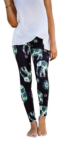 6f0c81c1a07587 Blue Eyed Sunshine Women's Elephant Love Leggings at Amazon Women's  Clothing store: