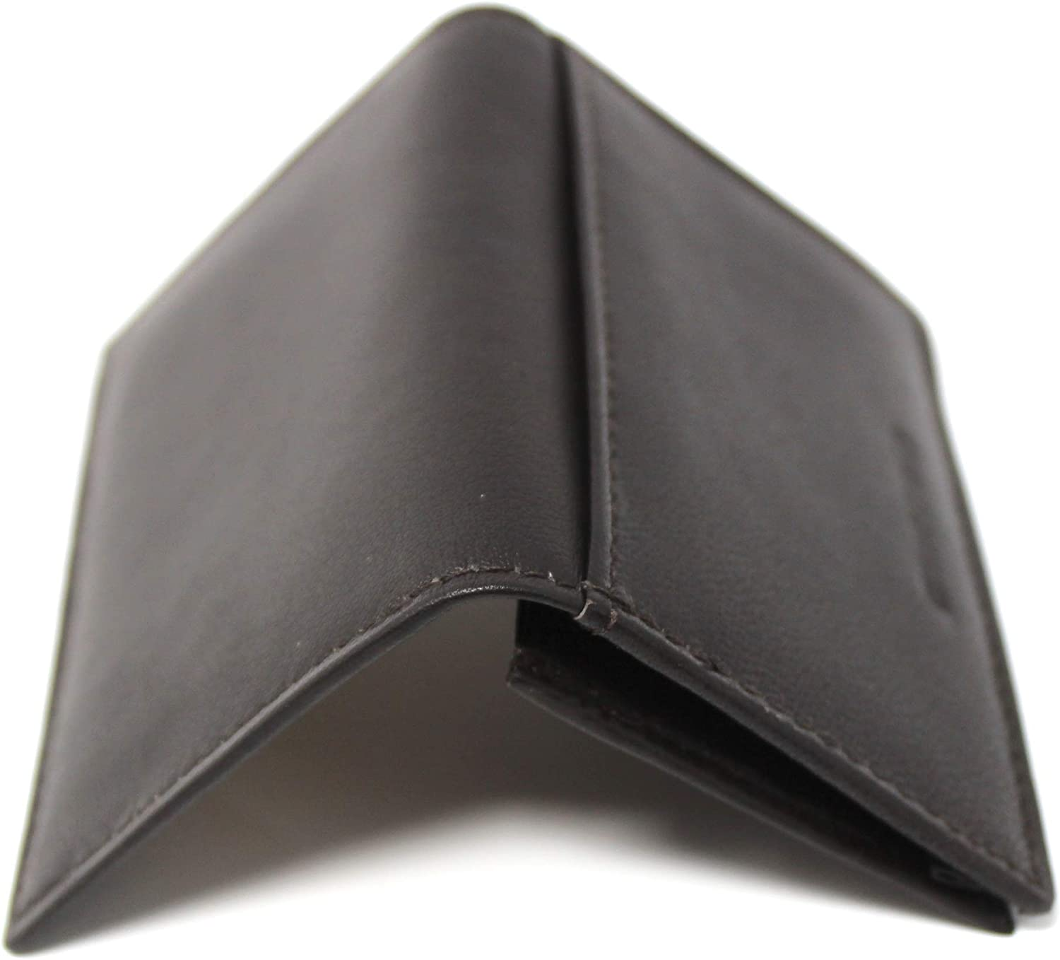 Trend 36 Mens Leather Card Case with flap RFID Blocking Technology ID Window Wallet