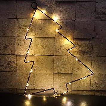 Christmas Tree Shaped Lights, Jeasun Fairy Battery Operated Led Warm White  Night Lights Mental String