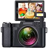 デジカメラ デジタルカメラYISENCE フルHD1080p 24.0MP 3.0インチ反転スクリーン 伸縮フラッシュライト内蔵