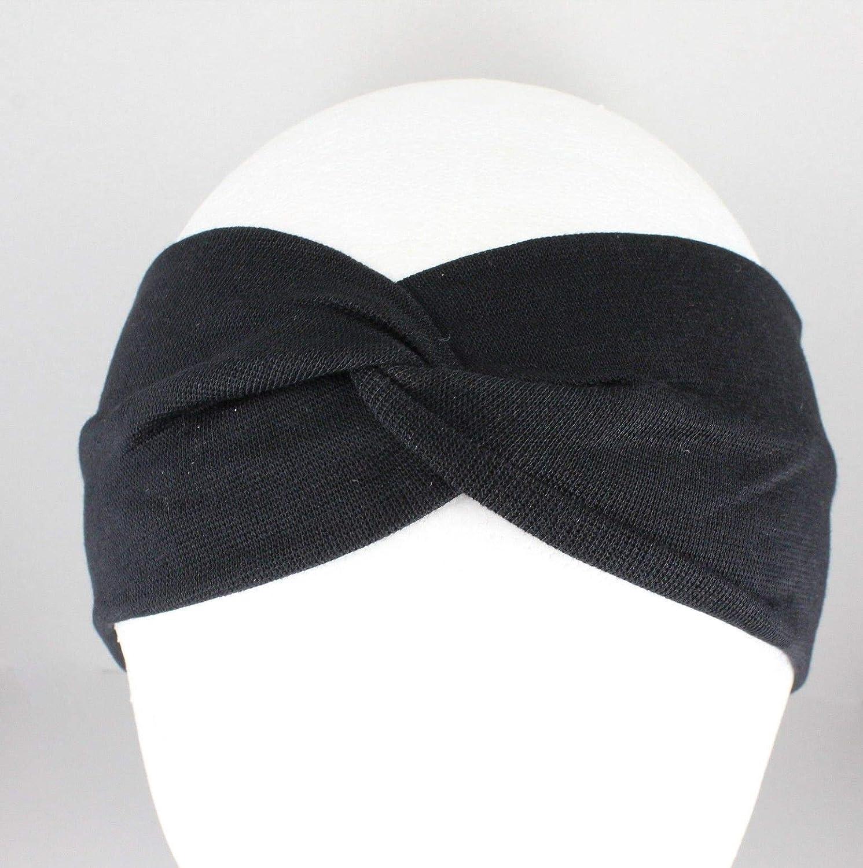 "Details about  /Black sparkle textured fabric turban twist stretch headband 1.75/"" wide turband"