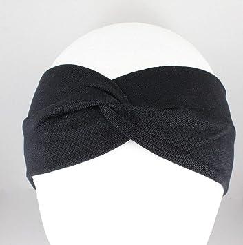 Black Turban Twist Fabric Headband Stretch Elastic 3 quot  Wide Hair Band  Accessory Girls Headbands For de33858f668