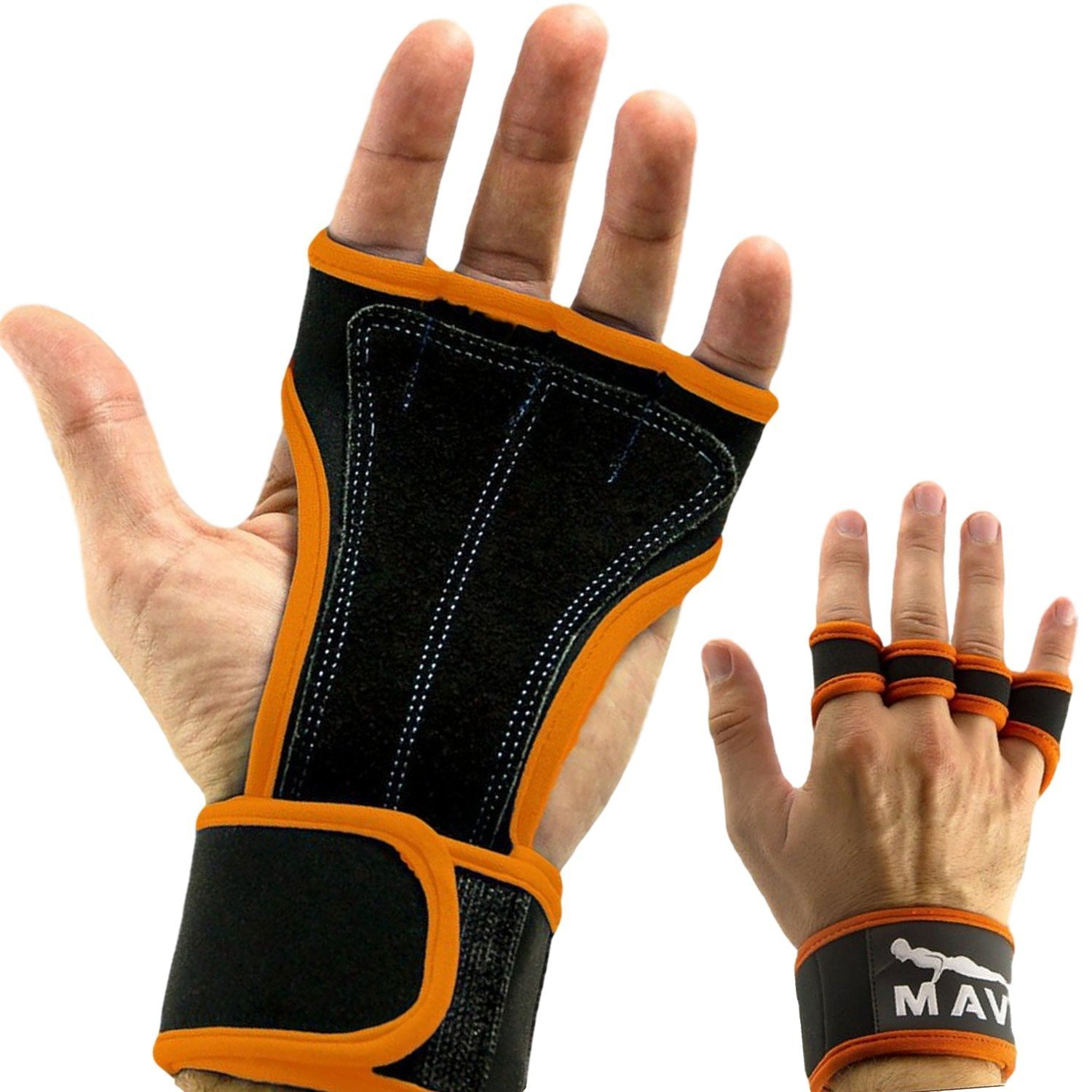 1eb5ebaf3e No Calluses-Suits Men & Women-Weight Lifting Sports & Fitness Mava Sports  Leather Padding Gloves Cross Training Gloves with Wrist Support ...