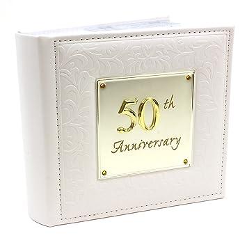 Deluxe Fotoalbum Für Goldene Hochzeit Aufdruck 50th