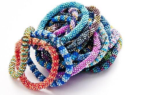 Amazon Com Wigspedia Wholesale 1 Dozen 12 Bracelets Random Mix Of