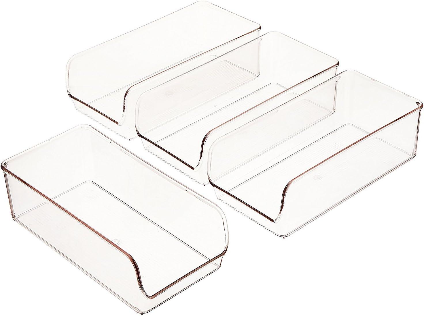 transparent lot de 2 boites organiseur cuisine de taille moyenne en plastique solide InterDesign Linus boite de conservation