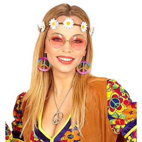 a basso prezzo raccolto dai un'occhiata Set costume hippy con bandana, orecchini e occhiali - Accessori ...