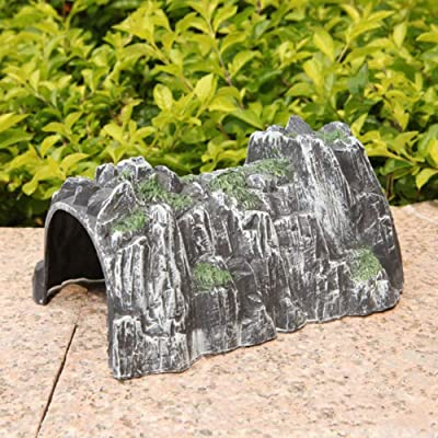 Mggsndi Simulation Rockery Train Cave Tunnel Model DIY Miniature Railway Scene Accessory, Creative Educational Toy - Encourage Imaginative Holiday/Birthday Gift for Boys and Girls: Home & Kitchen