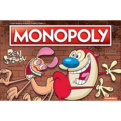USAOPOLY Monopoly Ren & Stimpy Board Game | Based on The Nickelodeon Series Ren & Stimpy | Officially Licensed Ren & Stimpy Merchandise | Themed Classic Monopoly Game: Toys & Games