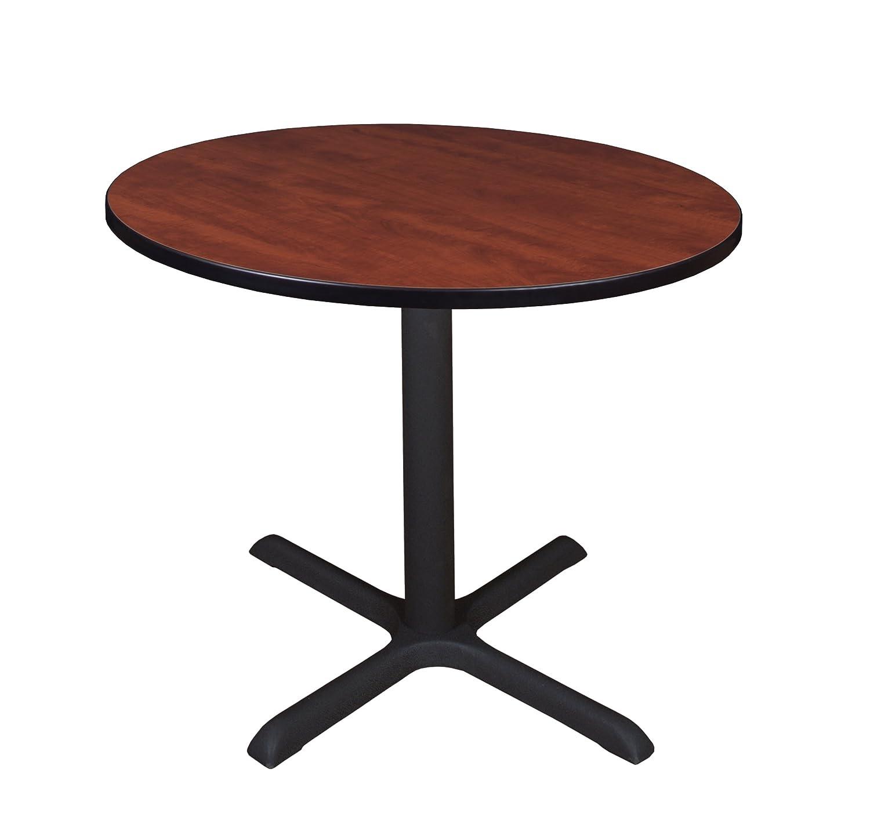 Amazoncom Cain 42 Round Breakroom Table Mahogany Kitchen Dining