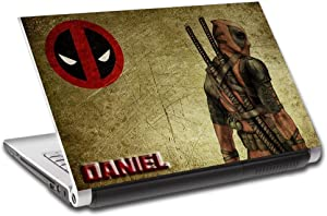 Deadpool Personalized LAPTOP Skin Decal Vinyl Sticker ANY NAME Marvel L645, 12""