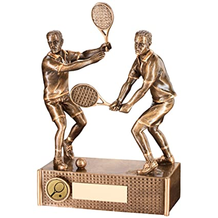 Trofeo de tenis - Male/para hombre duplica Resina en color ...