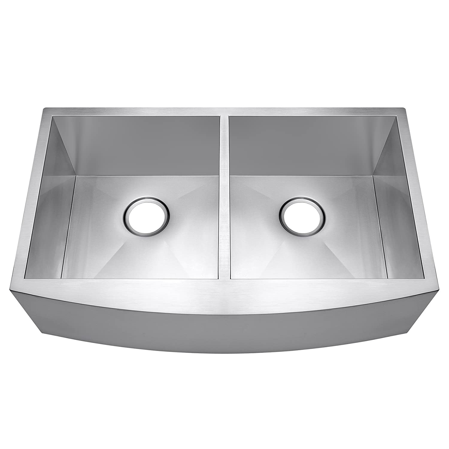 akdy 33   x 20   x 9   undermount apron double bowls basin 18 gauge handmade stainless steel farmhouse kitchen sink     amazon com akdy 33   x 20   x 9   undermount apron double bowls basin 18 gauge      rh   amazon com